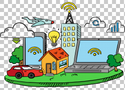 物联网云计算,手,绘云计算和物联网模型PNG剪贴画水彩绘画,云,计
