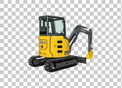 约翰迪尔小型挖掘机重型机械拖拉机,挖掘机PNG剪贴画技术,车辆,农
