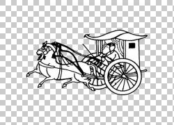 汽车马车描边,古代绘马匹PNG剪贴画马,水彩画,白色,家具,动物,手