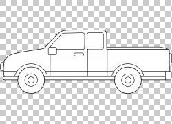 汽车皮卡车线艺术绘图铃木赤道,卡车PNG剪贴画紧凑型汽车,角度,卡