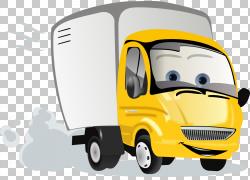 汽车皮卡车范,卡车的PNG剪贴画紧凑型汽车,漫画,面包车,卡车,汽车