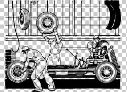 汽车装配线工厂,装配s PNG剪贴画紧凑型汽车,漫画,单色,卡通,车辆