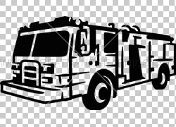 汽车消防车黑色和白色,白色火PNG剪贴画紧凑型汽车,司机,消防员,