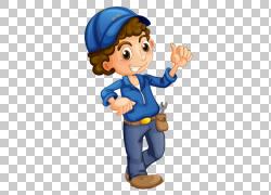 汽车汽车修理工,卡通卡PNG剪贴画手,男孩,人类,汽车维修店,卡通,