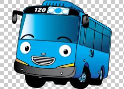 汽车汽车总线运输方式,tayo,蓝色巴士PNG剪贴画紧凑型汽车,汽车,