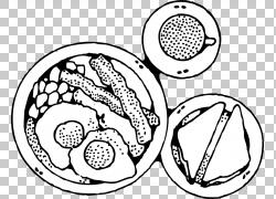 早餐煎饼食品,煎蛋PNG剪贴画白色,食品,早餐,单色,吃,头,汽车部分