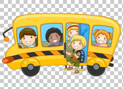 学生学校儿童例证,动画片校车,校车例证PNG clipart卡通人物,摄影