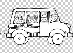 学生实地考察教育学校,实地考察PNG剪贴画儿童,类,单色,汽车,运输