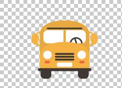学生第一天上学,校车PNG剪贴画儿童,学校用品,汽车,学校巴士,卡通