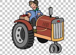 拖拉机动画,打开拖拉机PNG剪贴画帽子,敞开的门,打开,中国,卡通,