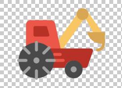 拖拉机图标,挖掘机PNG剪贴画角,橙色,卡车,汽车,货物,公共运输,叉