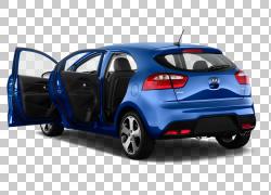 2012起亚Rio5 2014起亚力拓汽车,里约PNG剪贴画紧凑型轿车,蓝色,