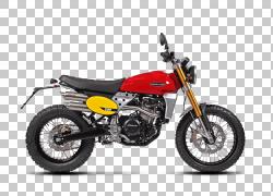 Fantic Motor Caballero摩托车试验双运动摩托车,大陆箭头PNG剪贴