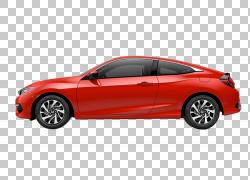 2018年本田思域Coupe紧凑型轿跑车,曲线PNG剪贴画紧凑型轿车,轿车