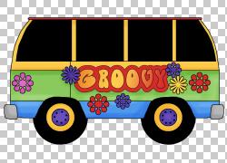 20世纪60年代嬉皮,平均的PNG剪贴画汽车,校车,运输方式,颜色,贴纸