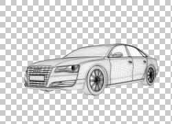 3D计算机图形3D建模,灰色奥迪汽车模型PNG剪贴画紧凑型轿车,轿车,