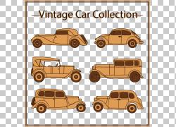 6辆老式汽车PNG剪贴画复古,老式汽车,汽车,运输方式,车辆,运输,设
