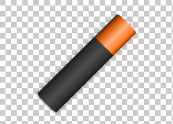 AAA电池可扩展图形,电池的PNG剪贴画角度,橙色,aA电池,免费内容,