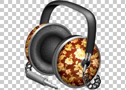 Apple Icon格式iTunes图标,古典耳机PNG剪贴画电子,3D,电子设备,