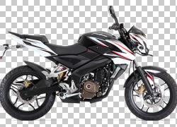 Bajaj汽车Bajaj Pulsar 200NS摩托车,汽车PNG剪贴画排气系统,汽车