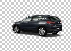 2018年宝马X2 xDrive28i汽车运动型多用途车自动变速箱,雨滴在镜
