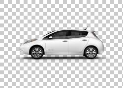 2017日产LEAF汽车电动车宝马,日产PNG剪贴画紧凑型汽车,汽车,运输