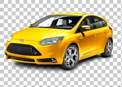 2014年福特福克斯ST汽车福特嘉年华福特S-Max,福特福克斯黄色车,