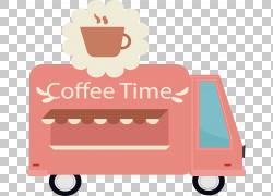 Coffee Cafe粉红色,粉红色咖啡车PNG剪贴画文本,汽车,咖啡店,热咖