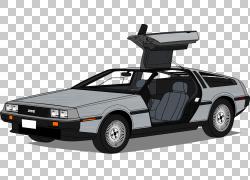 DeLorean DMC-12模型车汽车设计紧凑型车,车载PNG剪贴画紧凑型汽