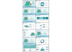 武汉加油预防新型冠状病毒肺炎宣传PPT模板图片