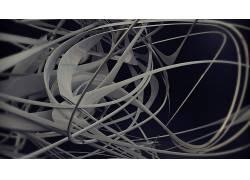 3D,抽象,艺术品,金属,铬,数字艺术,形状,线20085