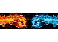 动漫,抽象,真人快打,视频游戏,拳头,火,冰34760