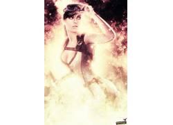 劳拉克罗夫特,妇女,火,抽象,视频游戏,古墓丽影,原始人物,分裂411
