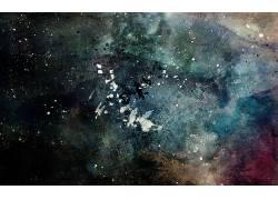 Alex Cherry,艺术品,油漆飞溅,垃圾,抽象163899