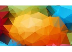华美,三角形,抽象,数字艺术,低聚178281