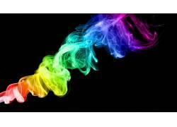 华美,抽烟,黑色的背景,抽象,数字艺术11103