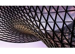 建筑,建造,现代,抽象,金属,三角形,玻璃226729图片