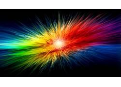 华美,抽象,彩虹,数字艺术,艺术品,形状2800