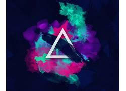 抽象,平面设计,向量,三角形,数字艺术605991