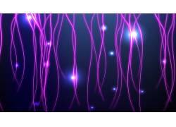 抽象,华美,紫色,线411220