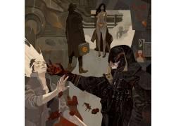 Jakub Rebelka,抽象,男人,妇女,黑发,金发,机,靴子,夹克,比基尼泳图片