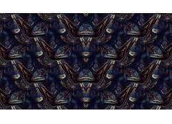 抽象,分形,模式,对称,数字艺术,黑金,玄幻,