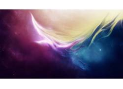 华美,抽象,空间,星系,太空艺术,艺术品,星云,数字艺术12755