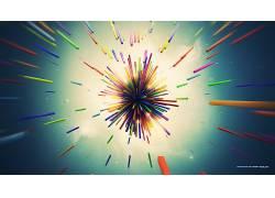 Lacza,抽象,3D,华美,形状,爆炸,数字艺术340598