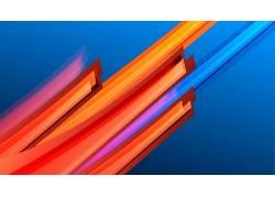 抽象,数字艺术,极简主义,简单的背景,线,华美,蓝色背景160609