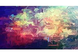 抽象,数字艺术,温暖的颜色277527图片