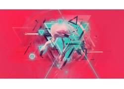 抽象,数字艺术,火烈鸟215440