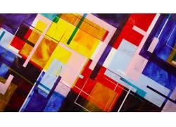 华美,数字艺术,抽象,线,几何,广场,水彩342109
