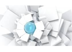 抽象,数字艺术,白色,蓝色47195