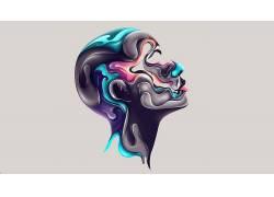 Rik Oostenbroek,艺术品,面对,抽象80650